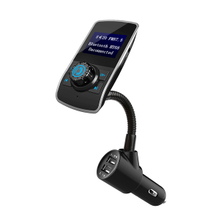 1.44 LCD Screen Bluetooth FM Audio Transmitter Adapter LCD